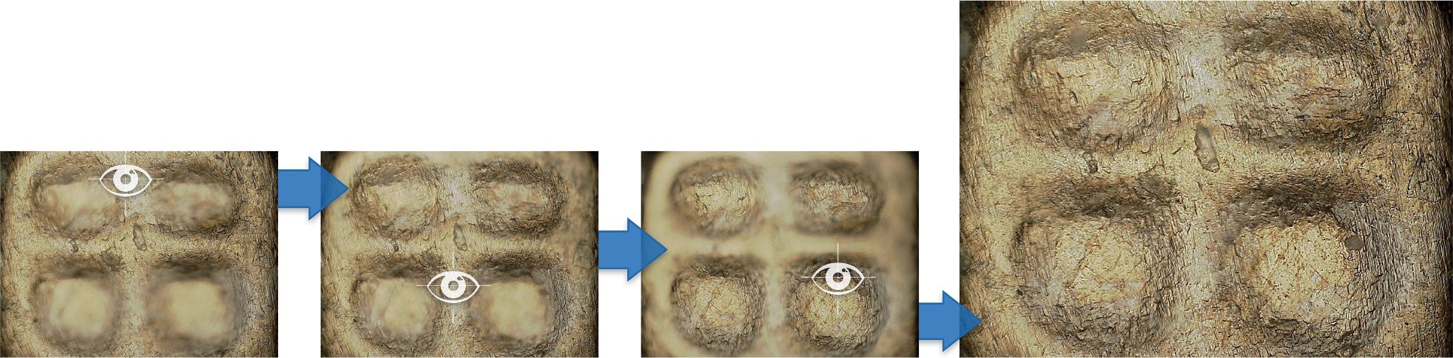 Foco automático microscópio hirox