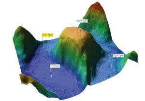 Medição da altura do ponto - microscópio hirox
