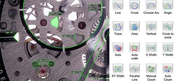 Medições 2D Microscópio Hirox